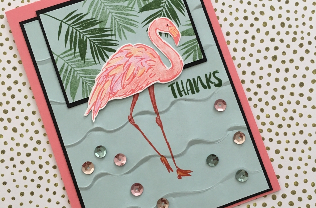 Fabulous Flamingo at the San Diego Zoo on a Thank You Card