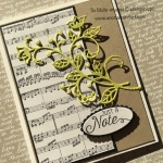 Just a Note Card from Sheet Music