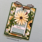 Sunflower Daisy Tag Thank You