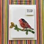 U.S. Postage Stamp Art-Bird on a Branch