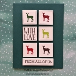 Carols of Christmas Deer in Stitched Squares