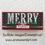 Large Letters Long Christmas Card