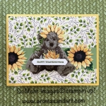 Thanksgiving Sunflower Baby Bear