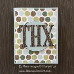Large Letters Masculine Thank you Card