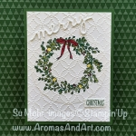 Stampin' Blends Feeling of Christmas Quilted Wreath