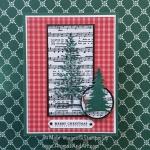 Musical Christmas Tree on Gingham