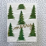 Merry Christmas Trees Among Snowdrifts