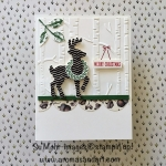What Does a Chevron and Acorn Christmas Card Look Like?