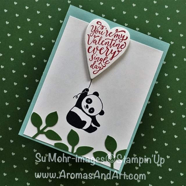 By Su Mohr; Click visit to go to details on my blog! Featuring: Party Pandas, Leaf Punch, Sure Do Love You, Lots To Love; #Valentines #valentinecards #partypandas #suredoloveyou #lotstolovebox