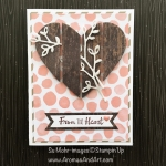 Learn How To Make A Wood Textures Slatted Heart
