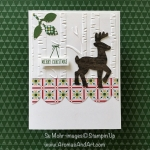 Quick and Easy Christmas Card Rudolf the Reindeer from Santa's Sleigh