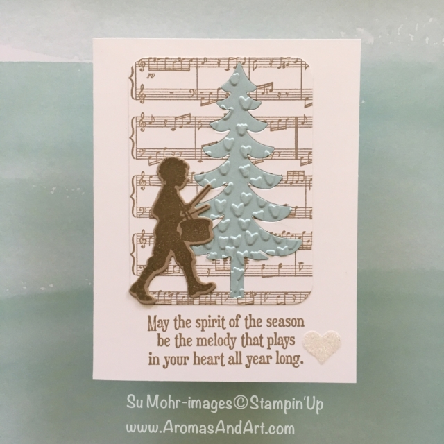 By Su Mohr for GDP116; Featuring: Musical Season, Musical Instruments, Santa's Sleigh, Sheet Music; For more details click visit to go to my blog! #musicalseason #musicalinstruments #sheetmusic #santassleigh #christmascards #stampinup