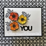 The Stampin' Up! Amazing You Stamp Set Makes A Masculine Flower Card