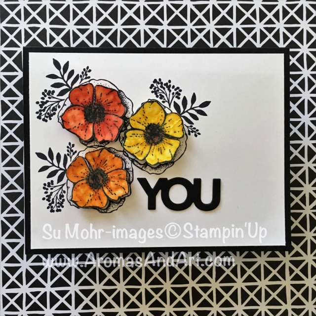 By Su Mohr; Featuring: Amazing You, Celebrate You, Sale-A-Bration, Stampin' Blends; For more details click visit to go to my blog! #occasions2018 #saleabration #amazingyou #celebrateyou #masculineflowercard