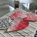 Stampin' Up U-Tube Brusho Video and My Brusho Valentine Hearts