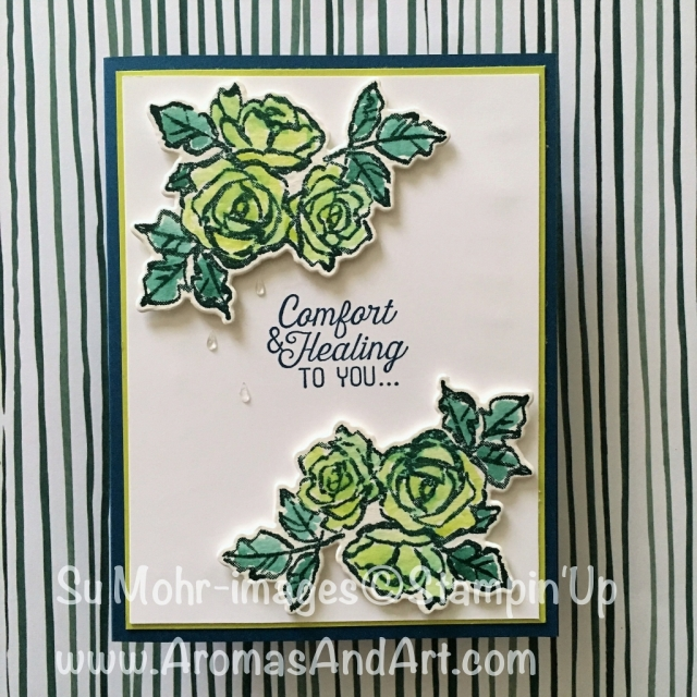 By Su Mohr; Click on visit to go to my blog for details; For pp376 and TGIF; Featuring Petal Palette, Flourishing Phrases: #sympathycards #thisoneisforyoufrenchie #petalpalette #flourishingphrases