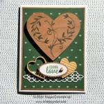 Wooden Hearts Valentine Card