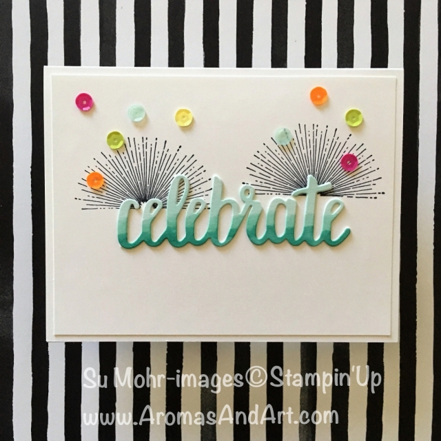 By Su Mohr; Click visit to go to my blog for details; Celebrate You, Amazing You, Birthday Wit, Stampin' Blends, Tutti-frutti Adhesive-backed Sequins #celebrateyou #amazingyou #birthdaywit #tuttifruttiadhesivebackedsequins #birthdaywit #stampinblends