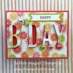 "Citrus Fruit Birthday Card Says ""Squeeze It For All It's Worth!"""