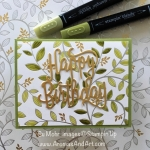 Springtime Foils Happy Birthday Card