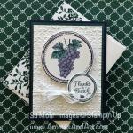 Tuscan Vinyard Grapes Thanks A Bunch Card