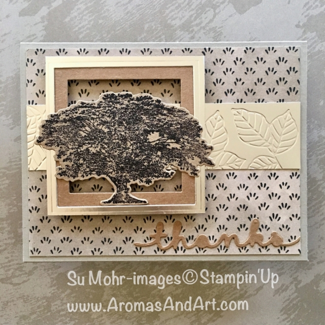 "Bt Su Mohr for tttc043; Click ""read it"" to go to my blog for details! Featuring: Nature's Poem, Rooted in Nature, Nature's Roots, Share What You Love; #masculinecards #thankyoucards #newcatalog #2018-2019 #naturespoem #stampinup"