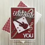 Bass Guitar Musical Birthday Card Collage Art