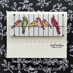 Graceful Glass Designer Vellum Birds in a Cage