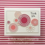 Delightfully Detailed Laser-Cut Specialty Paper Thank You Card Pretty in Pink