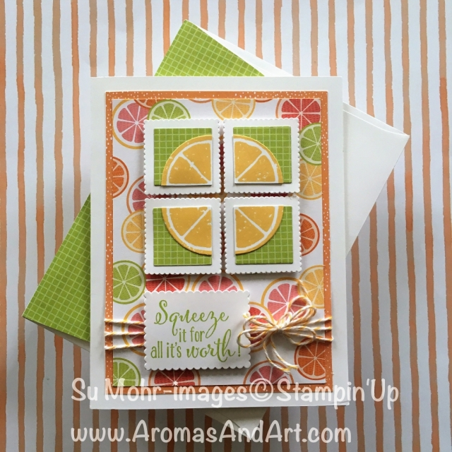 By Su Mohr for GDP136; Click Read It to go to my blog for details! Featuring: Tutti-Frutti DSP, Lemon Zest Stamp Set, Layering Squares; #birthdaycards #lemonzest #tutti-frutti #stampinup #handmadecards #diy #gdp136