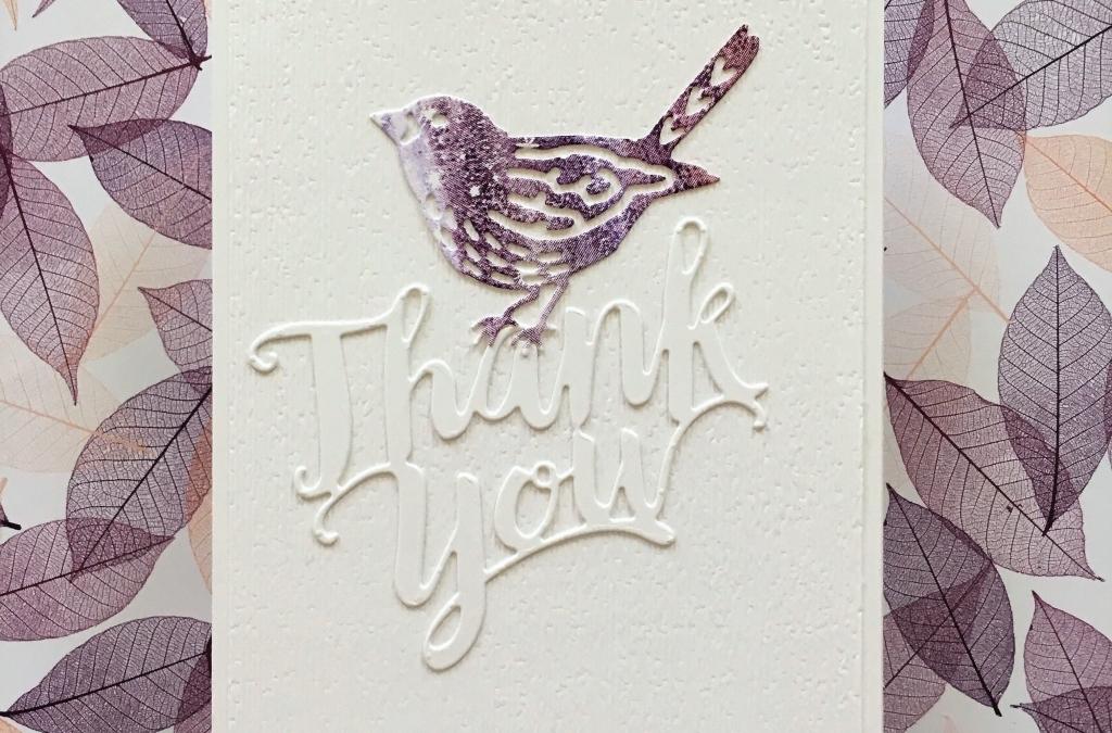 Bokeh Dots Bird Thank You Card