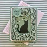 Cat Punch Shaker Birthday Card