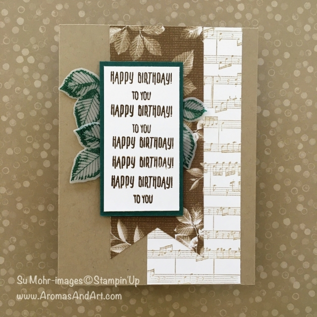 By Su Mohr for GDP144; Click READ to go to my blog for details; Featuring: Sheet Music, Nature's Poem, leaves, Rooted in Nature, Picture Perfect Birthday, Tabs for Everything; #birthdaycards #natureoncards #naturespoem #rootedinnature #pictureperfectbirthday #sheetmusic #happybirthdaytoyou