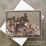 Wood Textures Thank You Masculine Card
