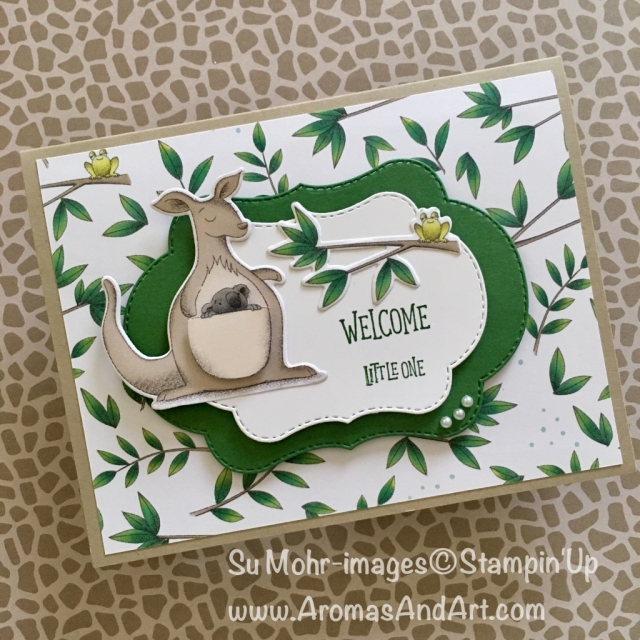 By Su Mohr; Click READ to go to my blog for details! Featuring: Animal Expedition paper, Stitched Seasons Dies, Animal Outings stamp set and dies; #animalouting #stitchedseasons #animalexpedition #babycards #handmadecards #stampinup