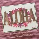Hawaiian ALOHA Lei Handmade Card