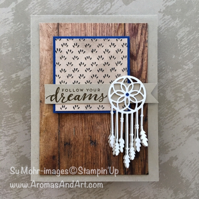 By Su Mohr for Kre8tors; Click READ to go to my blog for details! Featuring: Follow Your Dreams, Chase Your Dreams, Wood Textures, Swirly Frames; #dreamcatchers #followyourdreams #chaseyourdreams #feathers #woodtextures #bloghop #diy #handmadecards