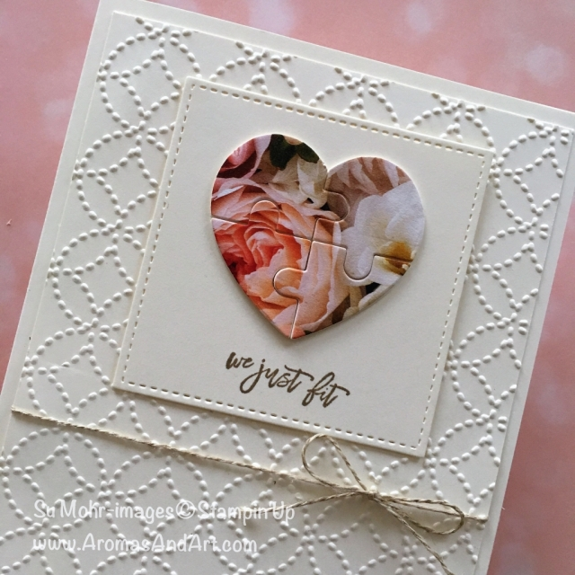 By Su Mohr for GDP146; Click READ to go to my blog for details! Featuring: Puzzle Pieces, Love You to Pieces, Quilt Top, Petal Promenade, Stitched Shapes; #puzzlepieces #loveyoutopieces #quilts #hearts #jigsawpuzzles #handmadecards #diy #papercrafts