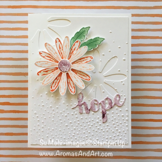 By Su Mohr for GDP145; Click READ to go to my blog for details! Featuring: Daisy Delight, Daisy Punch, Softly Faling, Sunshine Wishes; #daisydelight #sunshinewishes #daisypunch #daisies #handmadecards #stampinup #sympathycards