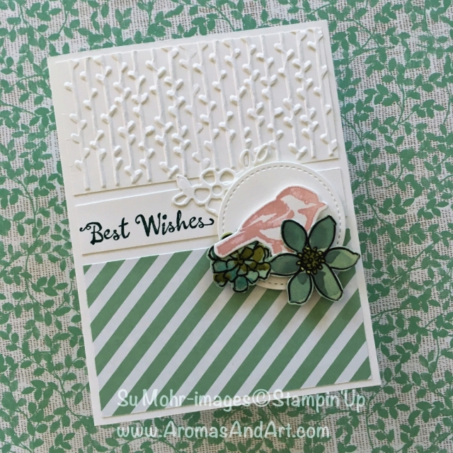By Su Mohr for cts282, FF142 and STB; Click READ to go to my blog for details! Featuring: Petal Palette, Petals & More, Petal Pair embossing, stripes, birthday cards; #petalsandmore #petalpalette #stripesoncards #birthdaycards #stampinup #handmadecards #diy #colorchallenge #cts282 #ff142