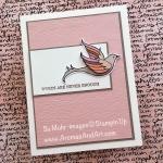 Serene Garden Bird Sympathy Card