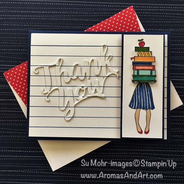 By Su Mohr for Kylie Bertucci's August 2018 International Highlights; Click READ to go to my blog for details! Featuring: Hand Delivered, Thank You die, Stampin' Blends;