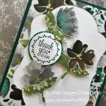 Frosted Floral Three Punch Thank You Card