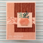 Clay Pot Discovery Makes Masculine Pink Birthday Card