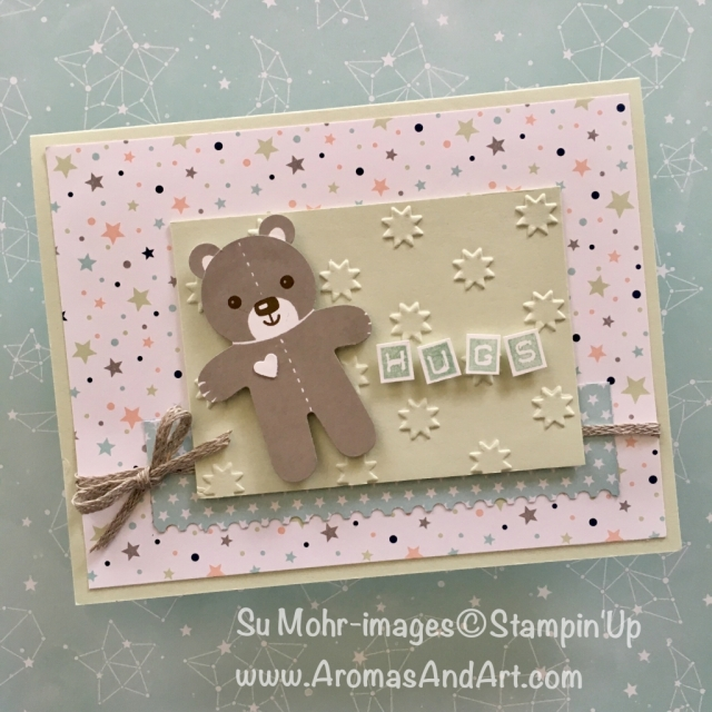 By Su Mohr for GDP154; Click READ to go to my blog for details! Featuring: Cookie Cutter Christmas, Oh My Stars, Twinkle Twinkle, baby cards, Labeler Alphabet; #cookiecutterchristmas #twinkletwinkle 3handmadecards #stampinup #babycards #gdp154