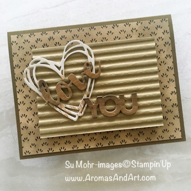 By Su Mohr for PP408; Click READ to go to my blog for details! Featuring: Sunshine Wishes, Celebrate You, Wood Textures, Corrugated embossing folder, Share What You Love DSP; #masculinecards #handmadecards #sunshinewishes #woodtextures #corrugated #handmadecards #lovenotes #pp408
