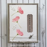 Eclectic Floral Thank You Card for What Will You Stamp Challenge