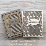 Two Joyous Noel Copper Foil Christmas Cards