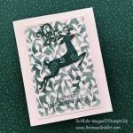 Stenciled Rudolf Christmas Card: Part 2