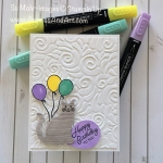 Punch Cat Swirls & Curls Birthday Balloon Bouquet